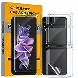 NEWZEROL 2 Sätze Folie kompatibel für Samsung Galaxy Z Flip 3 5G Bildschirmschutzfolie + Rückenschutzfolie [Maximale Abdeckung] [Kratzwiderstandsfähig] [Blasenfrei] TPU 3D Anti-Kratzer Bildschirmschutz