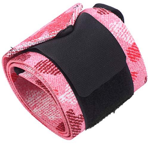 GARNECK Polsiere da fitness per sollevamento pesi, sollevamento pesi, crossfit, allenamento di forza, sollevamento pesi, sport, colore: rosa