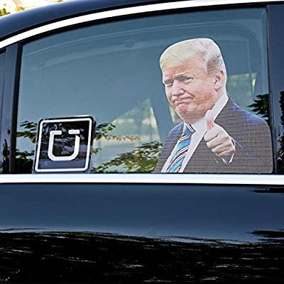 YINGENIVA 5PCS Donald Trump Car Window Decal, with 1pc Ride with Trump Sticker, 4pcs 2020 Trump Sticker, Keep America Great, Make Liberals Cry Again Sticker, Thumbs up Trump Window Cling Removable