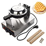 Bubble Waffle Maker, 220V Electric Egg Cake Oven Puff Bread Maker Cocina de acero inoxidable Kitchen Egg Cake Machine