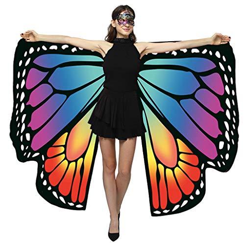 TEBAISE Schmetterling Kostüm Damen Kostüm Mäntel Umhänge Erwachsene Flügel 2019 Weihnachten Frauen Schmetterlingsflügel Schal Poncho Faschingkostüme Kostümzubehör Für Cosplay Party