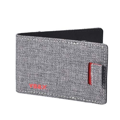 Herren Geldbörse / Geldbörse mit RFID- / Kreditkartenfächern - Grau - Segeltuch