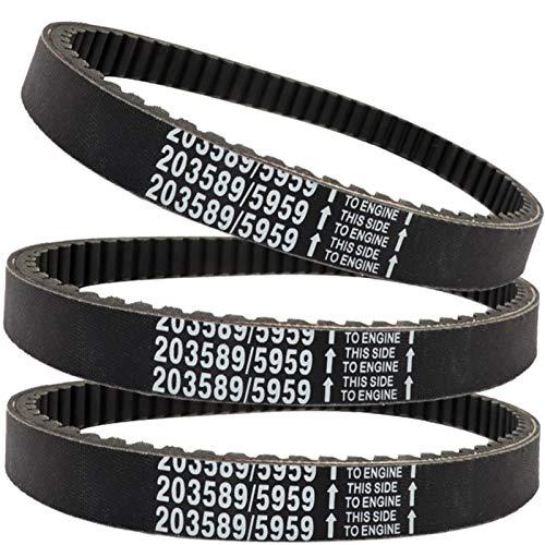 30 Series Go Kart Drive Belt torque converter belt Replaces For comet 203589 / manco 5959 murray 12-8487 baja Motorsports BB65-395 ken-Bar 300-009 255-299 rotary 8487(3pc)