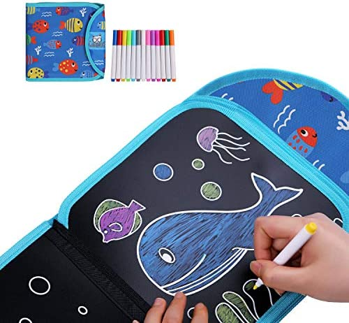 Gamenote Erasable Doodle Book Toddlers Activity Toys Kids Travel Activities Drawing Pad for product image