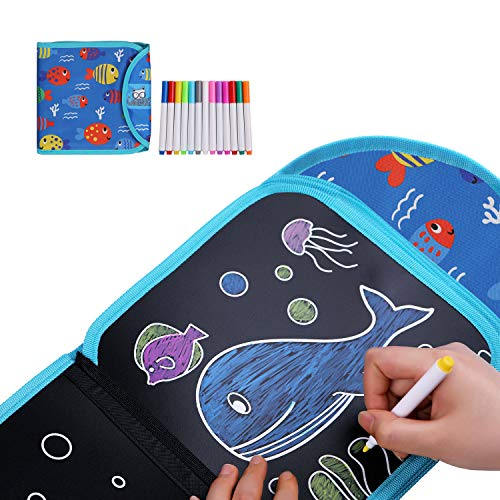Gamenote Erasable Doodle Book - Toddlers Activity Toys Kids Travel Activities Drawing Pad for Airplane Car Game Painting Set
