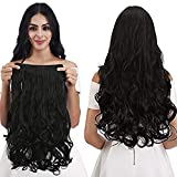 BLUSHIA Synthetic Fibre Clip in Hair Extensions for Girls and Women