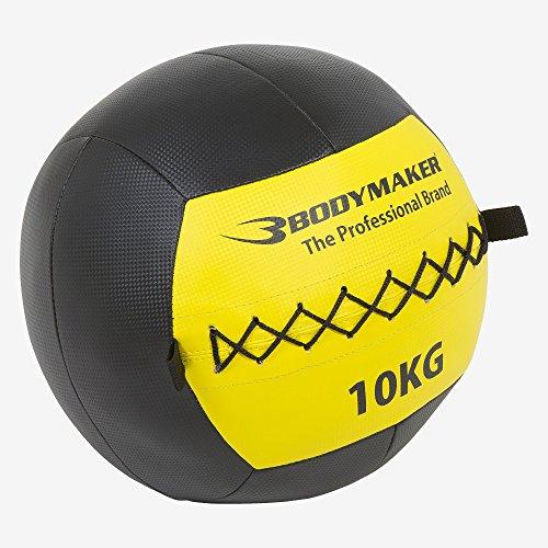 ボディメーカー(BODYMAKER) ウォールボール 10kg ブラック×イエロー TG0991000BKYE 腹筋 インナーマッスル バスケットボール ボールトレーニング ボクシング