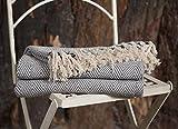 EHC Tagesdecke aus Baumwolle, für Sofa/Stuhl, 125x 150cm, 2Stück, Baumwolle, Orange, 125 x 150 cm/Single