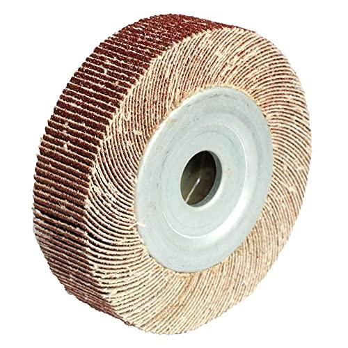 CYCFWW Ruedas de Solapa de 4 Pulgadas Llantas de Lija Ruedas Ruedas de Lija Pulido de Madera de Metal y plástico (Size : 90mmX16mm)