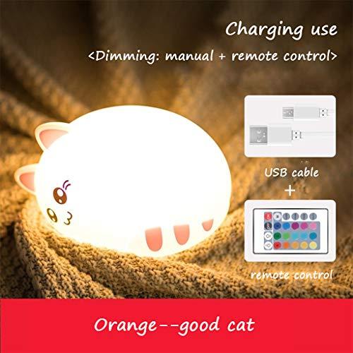 LED Siliconen Nacht Licht Opladen Kleur-Veranderende dimbare Nachtlampje Baby Touch Nachtlampje Unzip Verjaardagscadeau