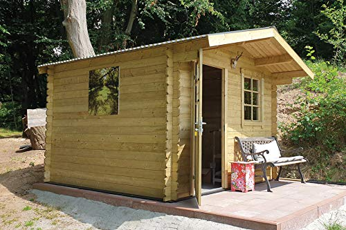 Fonteyn Gartenhaus/Blockhütte Heleen Satteldach 275 x 230 cm Hochdruck imprägniert