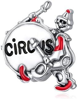 Charm in argento 925 con perline in argento 925, con leone, elefante, guardia d'onore, adatto a braccialetti o collane ser...