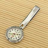 Cxypeng Reloj Broche Bolsillo Enfermeras,Pinza Luminosa Enfermera Mesa Colgante Reloj médico Bolsillo Reloj Estudiante Cofre-Plata A,Colgante Enfermera Prendedor Reloj