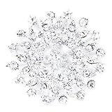 Katigan Pin Broche de Flor Ramo Boda Nupcial Diamante de Imitacion Brillante Plata