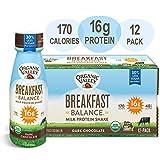 Organic Valley, Dark Chocolate Milk Protein Shake, Healthy Snacks, Breakfast Balance, 11oz (Pack of 12)