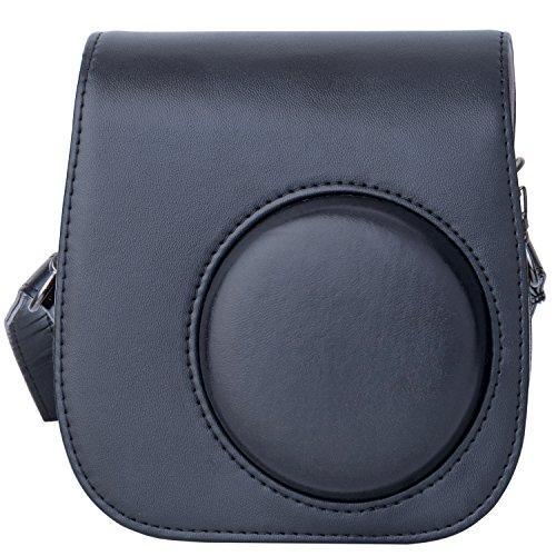 [Kamera Tasche für Fujifilm Instax Mini 8/ Mini 9] - ZWOOS Reise Kameratasche Gehäuse Taschen mit Schultergurt/Weinlese PU Leder für Fujifilm Instax Mini 8/ Mini 8S/ Mini 9 Tasche(Schwarz)