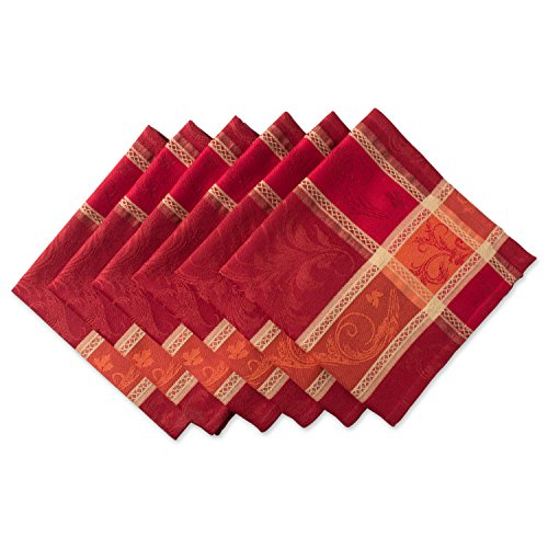 "DII Oversized 20x20"" Cotton Napkin, Pack of 6, Harvest Wheat - Perfect for Holiday, Fall, Thanksgiving, Dinner Parties or Everyday Use"