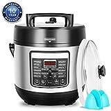 DEENKEE 10-in-1 Multi-Function Pressure Cooker 6 Quart, Instant Programmable Rice Cooker, Slow Cooker, Sauté, Yogurt Maker, Baker, Egg Cooker, Hot Pot and Steamer