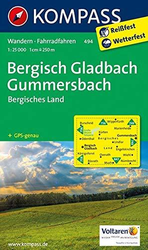 Bergisch-Gladbach - Gummersbach - Bergisches Land: Wanderkarte mit Radtouren. GPS-genau. 1:25000 (KOMPASS-Wanderkarten, Band 494)