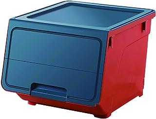Ouverture avant Panier de rangement en plastique Panier Panier décor, frappez la couleur avec des roues boîtes de rangemen...