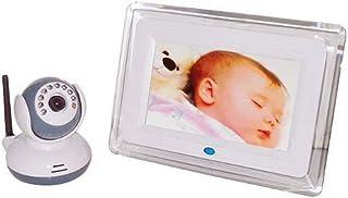 SmartEra Baby Monitor de control de voz con pantalla grande de 7 pulgadas LCD de 24 GHz digital con cámara de visión nocturna y de dos vías de conversación