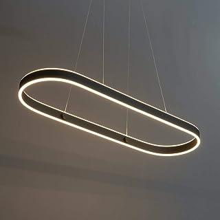 KOSILUM - Suspension ultra design noir en LED - Apollo - Lumière Blanc Chaud Eclairage Salon Chambre Cuisine Couloir - 47W...