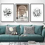 Bilder Posterset Leinwand Malerei Moschee Islamische