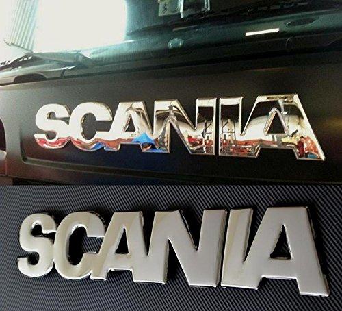 Símbolo/emblema de Scania con relieve 3D efecto espejo en acero inoxidable pulido para parte delantera de Scania R 2004-2009