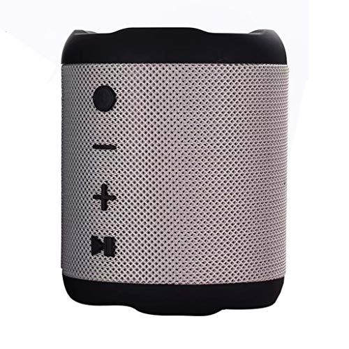 LXLTLB Enceinte Bluetooth Portable Basses Profondes étanche Wireless Parleur 1200mA, Portée Bluetooth 10m pour Barbecue de Fête de Téléphone Portable PC TV,Gris