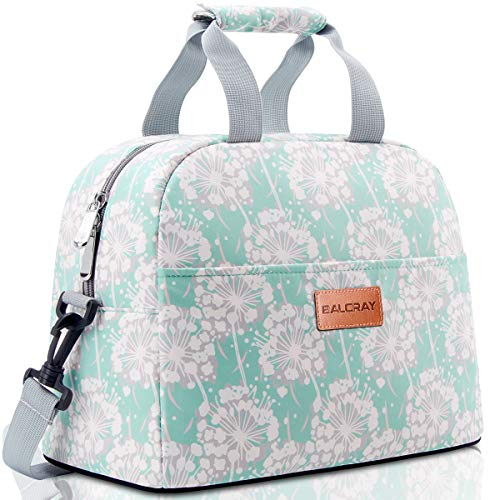 BALORAY Lunch Bags for Women with Shoulder Strap Insulated Lunch Bag Lunch Box Adult Lunch bags Lunch Tote for Work,Picnic,Travel (Green)