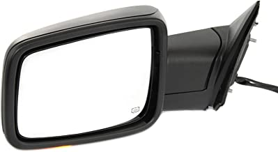 Kool Vue DG87EL-S Mirror for Ram Full Size P/U 13-17 Left Side Power Heated W/Signal and Puddle Light Textured Black