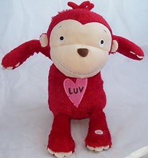 Hallmark Luv Congo Monkey Plush RED Animated with Sound Motion Toy Stuffed Animal Lovey