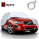 "KAKIT 5 Layers Universal SUV Cover Waterproof All Weather Heavy Duty Sun Protection Scratch Resistant for Automobiles Outdoor(Up to 180"")"