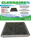 Cleenaire CAF6196 The Most Advanced Protection Against Bacteria Dust Viruses Allergens Gases Odors, Cabin Air Filter For Ford Focus, Escape, CMAX, Transit Connect, and MKC