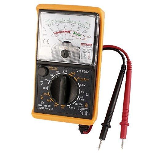DealMux VC7007 voltios AC DC amperímetro Ohm Tester Multímetro analógico w Cables de prueba...
