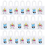 K KUMEED 20 Pack Unicorn Party Bags, Reusable Party Treat Bags Gift Goody Bags for...