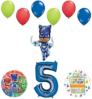 Mayflower Products PJ Masks Catboy 5th Birthday Party Supplies Balloon Bouquet Decorations