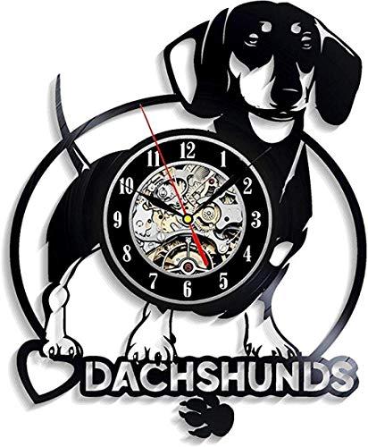 Orologio da Parete in Vinile Daschund per Ragazzo Ragazza...