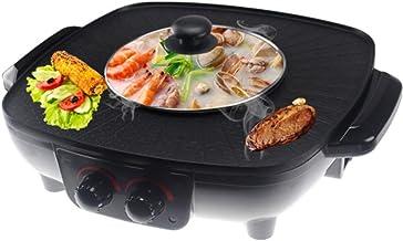 DHGG Korean Hot Pot Double Pot Double, Casserole Intégrée, Hot Pot Électrique Barbecue Électrique Moule De Cuisson Électrique