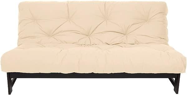 Mozaic Full Size 10 Inch Cotton Twill Futon Mattress Ivory