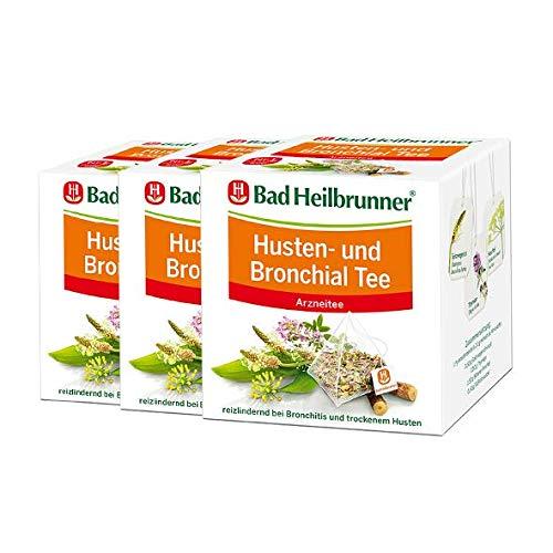Bad Heilbrunner® Husten- und Bronchial Tee - Pyramidenbeutel - 3er Pack