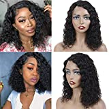 Human Hair Lace Front Wigs 14 Inch Bob Wigs Water Wave Lace Front Wigs Water Wave Wigs For Black Women Brazilian Virgin Hair Wet And Wavy Wigs 14' Water wave lace wigs(L part)