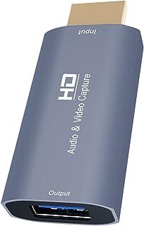 MERIGLARE Placas de captura de áudio e vídeo 4K HDMI Macho para USB Feminino Alta Definição 1080p Jogos Ensino Vídeo Vídeo...