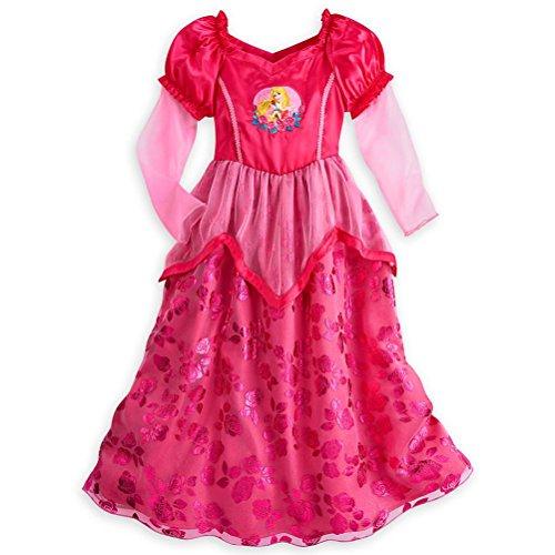 Disney Store Princess Aurora Little Girl Long Sleeve Nightgown Pajama 5/6