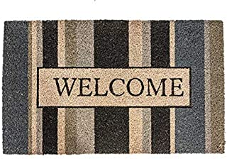 "NoTrax, Welcome Gray, Vinyl-Backed Natural Coir Doormat, Entry Mat for Indoor or Outdoor Use, 18""x30"", C12 (C12S1830WG)"