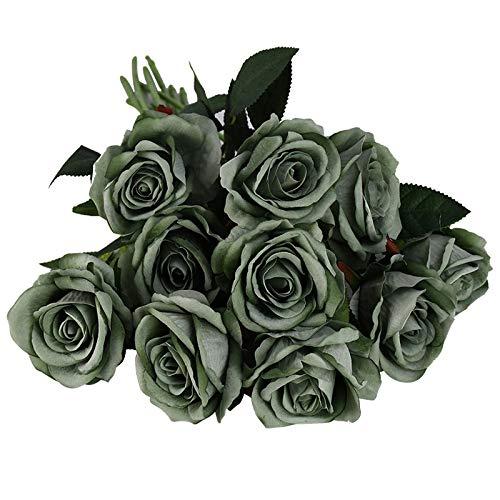 PPLAX 5 / 10pcs 8cm Rayon Rose Floral Bouquet Fake Flower Arreglo...