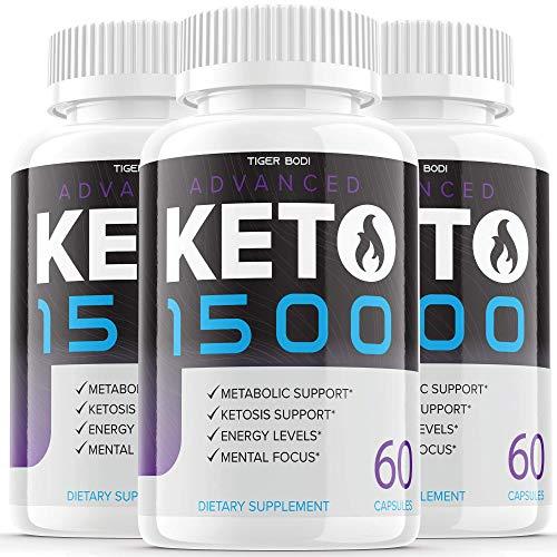 (3 Pack) Keto Advanced 1500 Diet Pills Weight Loss Supplement Keto Advance Ketogenic Exogenous Ketones for Men Women (180 Capsules)