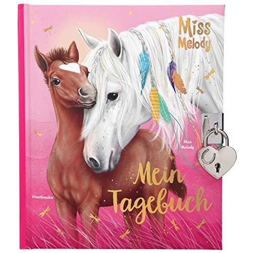 Depesche 11020 Tagebuch mit Schloss, Miss Melody, rosa, ca. 19 x 16 x 2,3 cm