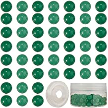 SUNNYCLUE 1 Box 100Pcs 8mm Green Aventurine Round Beads with Elastic Thread Natural Stone Beads Beading Loose Gemstone Hole 1mm Charm Bead for DIY Bracelet Necklace Earring Jewelry Making, Mixed Color