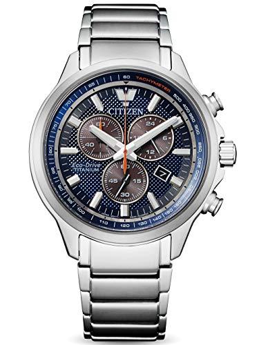 Citizen Reloj Cronógrafo para Hombre de Eco-Drive con Correa en Titanio AT2470-85L